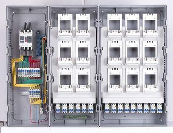 Single Phase Electric Meter Box Anti - Flaming 15 Way Use In Electronic Project